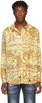 Martine Rose Yellow Classic Pleated Shirt