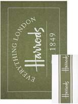 Harrods Everything London Tea Towel Set, Green