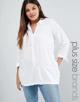 Junarose Ruffle Hem Shirt
