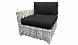 Falmouth Right Arm Patio Chair with Cushions Sol 72 Outdoor Cushion Color: Aruba