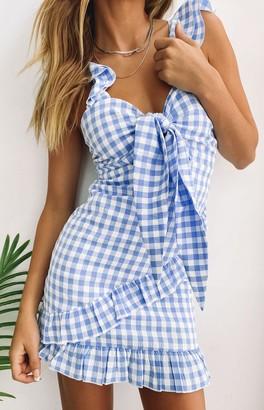SNDYS Croatia Dress Blue Gingham