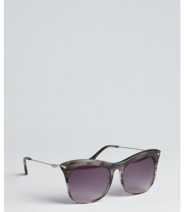 Elizabeth and James smoke acrylic 'Fairfax' oversized cat-eye sunglasses