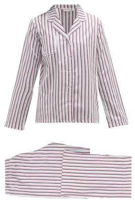 Derek Rose Milly Striped Cotton Twill Pyjamas - Womens - Pink