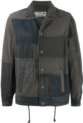 Diesel D-Coacinque5 patchwork denim jacket