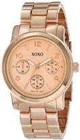 XOXO Women's XO171 Rose Gold-Tone Bracelet Analog Dress Watch