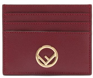 Fendi F Is Leather Cardholder - Burgundy