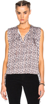 Etoile Isabel Marant Harvey Pleated Print Top