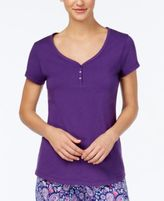 Charter Club V-Neck Cotton Pajama Top, Created for Macy's