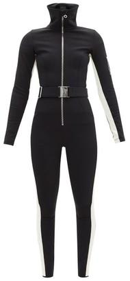 Cordova Belted Bicolour Soft-shell Ski Suit - Black