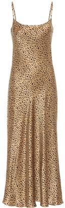 Rixo Holly leopard-print silk midi dress