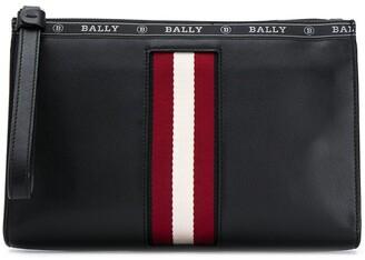 Bally Haig leather clutch