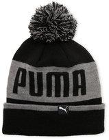 Puma Block Cuffed Pom Beanie