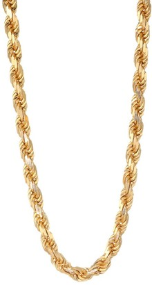 Emanuele Bicocchi 24K Yellow Goldplated & Sterling Silver Rope Chain Necklace