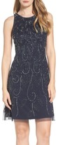 Adrianna Papell Women's Beaded Fit & Flare Dress