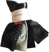 Calvin Klein Men's Dress Socks 4 Pack Polka Dot Grey