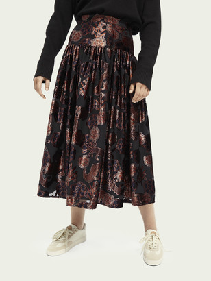 Scotch & Soda High-rise velvet midi skirt | Women