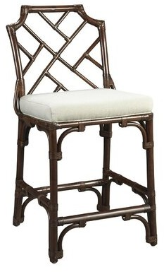 """Foundry Select Schaaf Chippendale 26"""" Counter Height Stool Finish: Mahogany"""