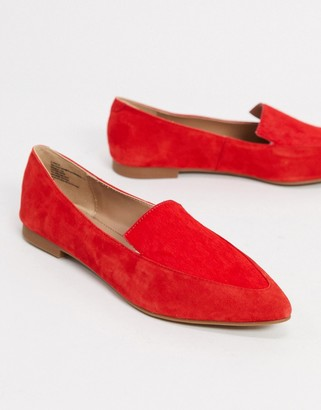 Steve Madden classical pointed flat shoe in red