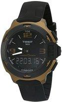 Tissot Men's 'T racing' Swiss Quartz Metal and Silicone Dress Watch, Color:Black (Model: T0814209705706)