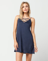 Socialite Cross Front Slip Dress