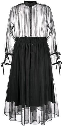 Comme des Garcons Ninomiya transparent dress
