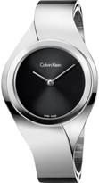 Calvin Klein Senses Ladies Polished Silver Bangle