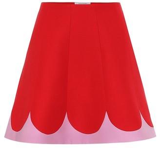 Valentino wool-blend crepe skirt