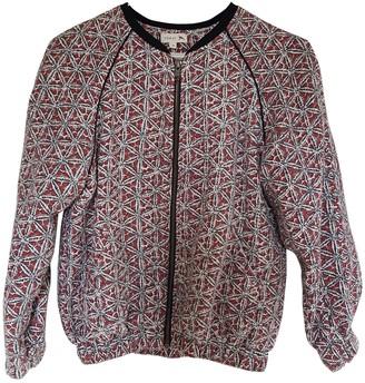 soeur Burgundy Cotton Jacket for Women