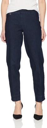 Slim Sation SLIM-SATION Women's Solid Ankle Pant with Deep Hem Vent and Surround Comfort Denim