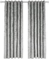 Very Made to Measure Luxury Crushed Velvet Eyelet Curtains – Steel