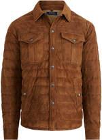 Ralph Lauren Suede Down Shirt Jacket