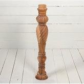 """Rejuvenation 23"""" Stripped Wooden Turned & Carved Spindle, c1900"""