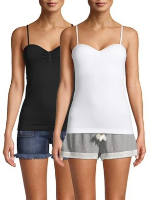 No Boundaries Juniors' Seamless Bra Cup Tanks, 2-Pack
