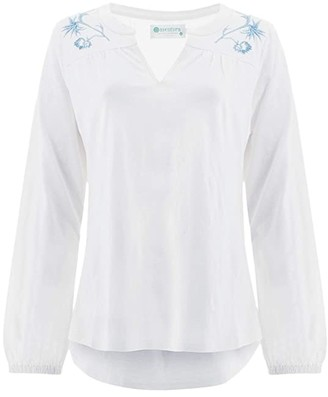 Aventura Clothing Farah Peasant Top (White) Women's Clothing