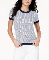 Maison Jules Patterned Ringer Sweater, Created for Macy's