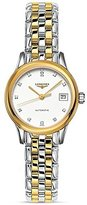 Longines Women's Two Tone Steel Bracelet & Case Automatic Dial Analog Watch L42743277