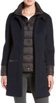 Soia & Kyo 'Lettie' Quilt Detail Wool Blend Coat