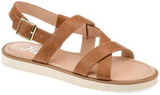Journee Collection Womens Aiden Criss Cross Strap Flat Sandals