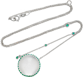 Susan Foster 18K White Gold Emerald Necklace