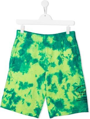 Diesel TEEN tie-dye shorts