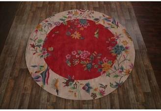 Leonardo Astoria Grand Oriental Hand-Tufted Wool Red Area Rug Astoria Grand