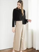 Pleats Wide Pants (beige)