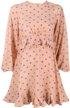 Zimmermann Flounce silk mini dress