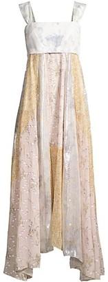 Rebecca Taylor Daffodil Metallic Silk-Blend Dress