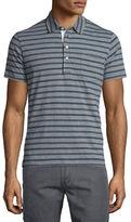 Billy Reid Striped Short-Sleeve Polo Shirt