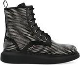 Alexander McQueen Strass Combat Boots