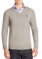 Polo Ralph Lauren V-Neck Merino Wool Sweater