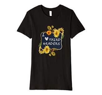 Womens Sunflower Third Grade Teacher Shirt Cute 3rd Grade School Premium T-Shirt