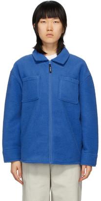 Stussy Blue Fleece Zip Jacket