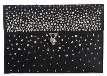 Alexander McQueen Studded Skull Closure Leather Envelope Clutch